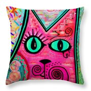 House Of Cats Series - Catty Throw Pillow by Moon Stumpp