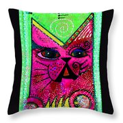 House Of Cats Series - Glitter Throw Pillow
