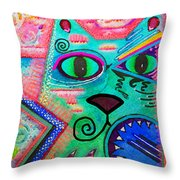 House Of Cats Series - Spike Throw Pillow by Moon Stumpp