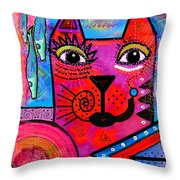House Of Cats Series - Tally Throw Pillow by Moon Stumpp