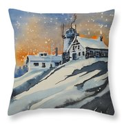 House On Hill Throw Pillow
