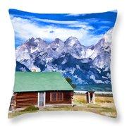 House On Mormon Row Throw Pillow