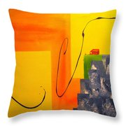 House On The Edge Of Aliveness Throw Pillow