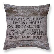House Owned By The People Throw Pillow