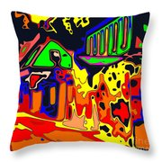 House Party Throw Pillow
