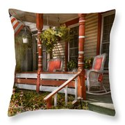House - Porch - Traditional American Throw Pillow