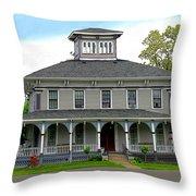 House Throw Pillow by Rhonda Barrett