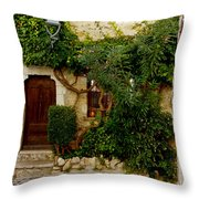 House Saint Paul De Vence France Dsc02353  Throw Pillow