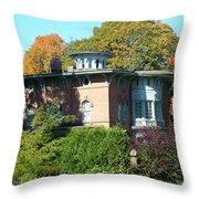 House Surrounded By Autumn Throw Pillow