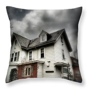 House With Brick Front - American Gothic Throw Pillow