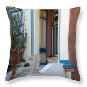 House With Griffin Lafayette Square St Louis Throw Pillow