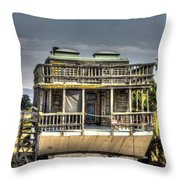 Houseboat Throw Pillow