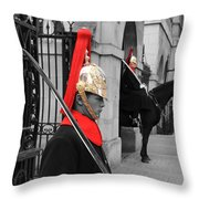Household Cavalry Guards  Throw Pillow