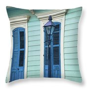 Houses Along A Street, French Quarter Throw Pillow