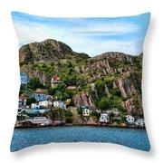 Houses On Hillside Throw Pillow