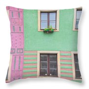 Houses From The Outside Throw Pillow