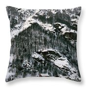 Houses In A Village In Winter, Tasch Throw Pillow