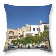 Houses In Jaffa Tel Aviv Israel Throw Pillow