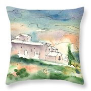 Houses In Montepulciano In Tuscany 02 Throw Pillow