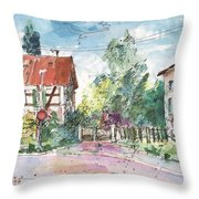 Houses In Soufflenheim Throw Pillow