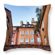 Houses In The Old Town Of Warsaw Throw Pillow