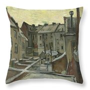 Houses Seen From The Back Throw Pillow