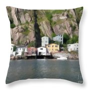 Houses With Expressive Brushstrokes Throw Pillow
