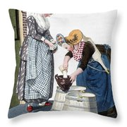Housewife, 1811 Throw Pillow