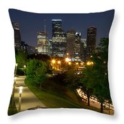 Houston At Night Throw Pillow