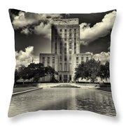 Houston City Hall Throw Pillow
