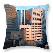 Houston Financial District Throw Pillow