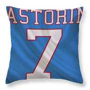 Houston Oilers Dan Pastorini Throw Pillow
