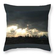Houston Refinery At Dusk Throw Pillow