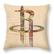 Houston Rockets Logo Art Throw Pillow