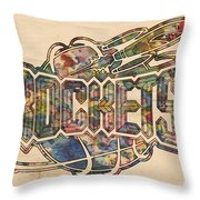 Houston Rockets Retro Poster Throw Pillow