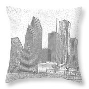 Houston Skyline Abstract Throw Pillow