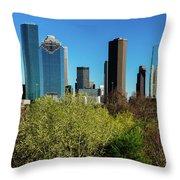 Houston Skyline, Houston, Texas Throw Pillow