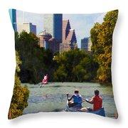 Houston The Bayou City Throw Pillow