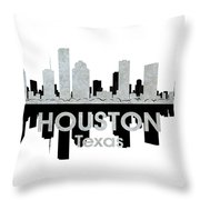 Houston Tx 4 Throw Pillow by Angelina Vick