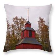 Houtskari Church Clock Tower Throw Pillow