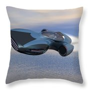 Hover Car Throw Pillow