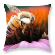 Hovering Bee Throw Pillow
