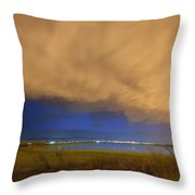 Hovering Stormy Weather Throw Pillow