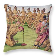How A Sentry Was Treated For Negligence Throw Pillow