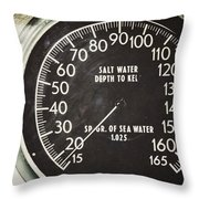 How Deep Is The Sea Throw Pillow by Lisa Russo