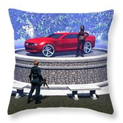 How Did You Get That Car Up There? Throw Pillow
