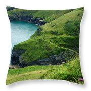 Rolling Hills Of Green Throw Pillow