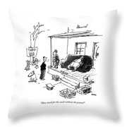 How Much For The Couch Without The Potato? Throw Pillow