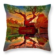 How One Tree Becomes Two Throw Pillow