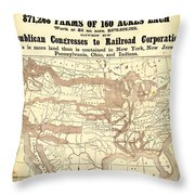 How The Public Domain Has Been Squandered 1884 Throw Pillow